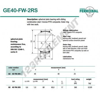 DGE40-FW-2RS-DURBAL