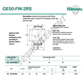 GE50-FW-2RS-DURBAL