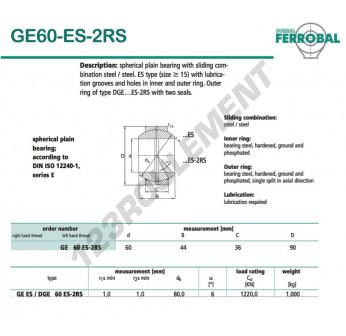DGE60-ES-2RS-DURBAL