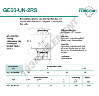 DGE60-UK-2RS-DURBAL