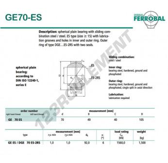 GE70-ES-DURBAL - 70x105x40 mm