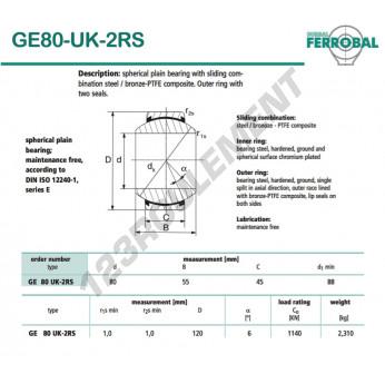DGE80-UK-2RS-DURBAL