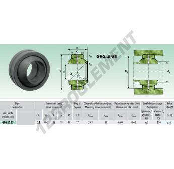 GEG025-ES - 25x47x28 mm