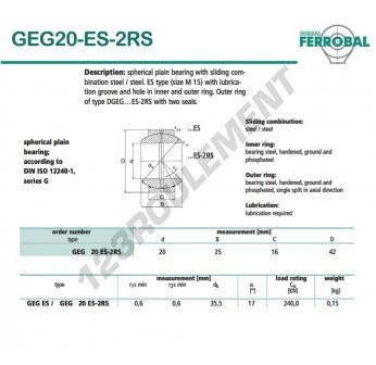 DGEG20-ES-2RS-DURBAL