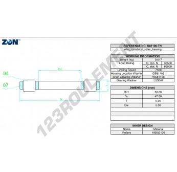 K81106-TN-ZEN - 30x47x5 mm