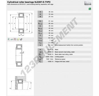 NJ2207-E-TVP2-C3-FAG - 35x72x23 mm