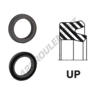UP-16X25.30X7-NBR90 - 16x25.3x7 mm