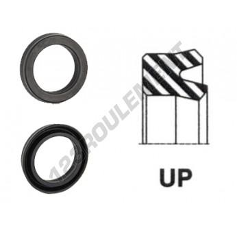 UP-17X25X6.50-NBR90 - 17x25x6.5 mm