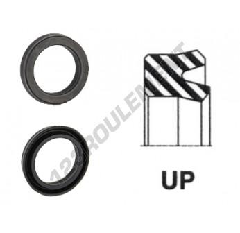 UP-17X30X7.50-NBR90 - 17x30x7.5 mm